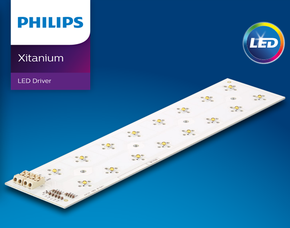 Module chip Led Philips FORTIMO FASTFLEX LED BOARD 2X8/757 DA